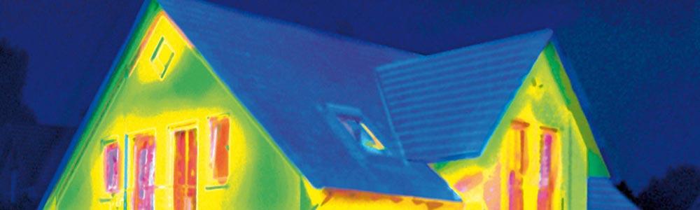 Wärmebild Dämmeigenschaften Fassade